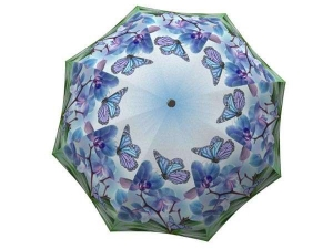 Butterfly umbrella blue - Beautiful heavy duty extra large rain umbrellas for sale