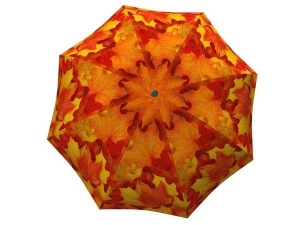 Umbrella Canadian Autumn - Folding Colorful Orange Umbrella with Sleeve - best brand auto folding umbrella