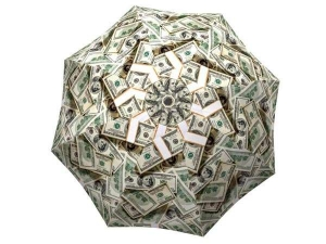 Funny Design Portable Umbrella Unique Gift for Men - Dollar Bills Umbrella Money Collage - best mens umbrella