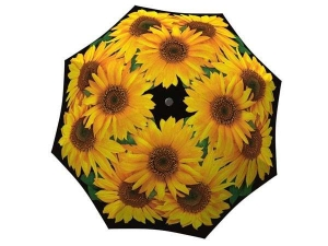 Sunflowers Umbrella Windproof Compact for Travel - Best portable designer umbrella in gift box