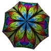Designer umbrella with gift box - Floral Stained Glass