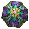 Designer umbrella with gift box - Kaleidoscope Stained Glass