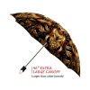 Gold Flower good quality folding rain umbrella with gift box