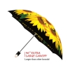Sunflowers good quality folding rain umbrella with gift box