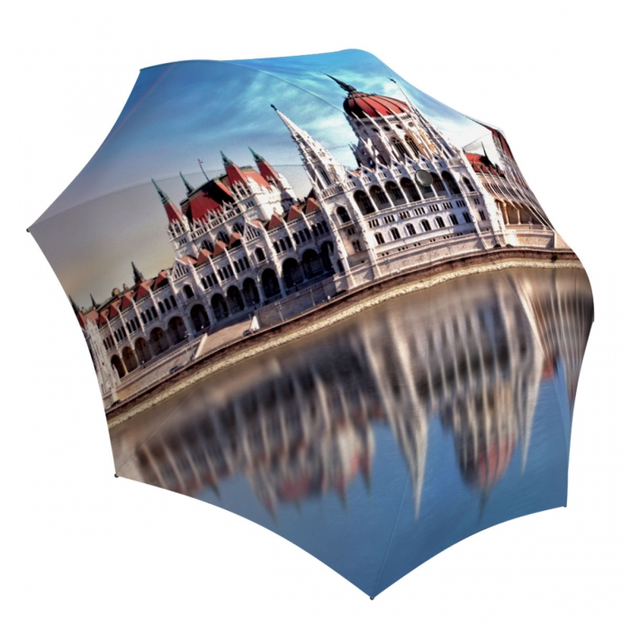 Art Umbrella for Women compact - European Hungary Budapest umbrella