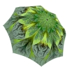 Fashion Umbrella Floral Stylish Gift - Compact Automatic Rain Umbrella Green Flower Design