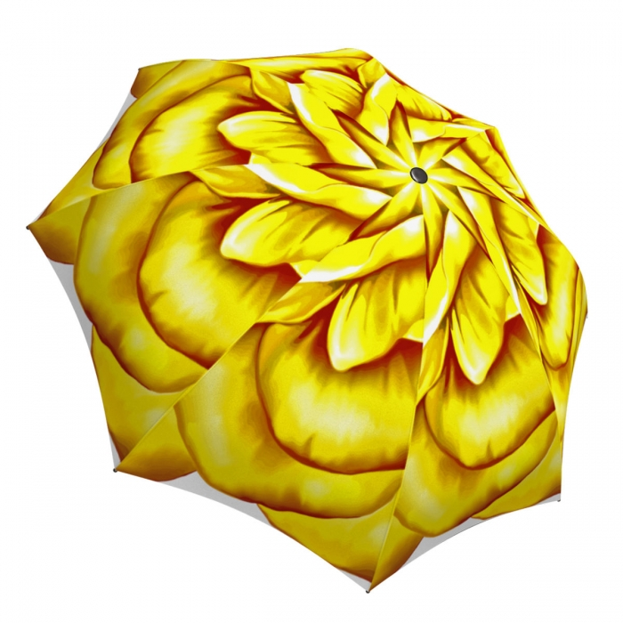 Cute Yellow Flower Umbrella Rose Design - Designer Floral Umbrella for Women