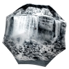 Canadian Umbrella Waterfall Design - Beautiful umbrellas online - Folding Umbrella Black and White with Sleeve
