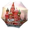 Russian Umbrella Pink Moscow Design - Folding Colorful Umbrella with Sleeve - best oversized rain umbrella