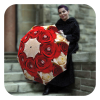 Floral Fashion rain Red Roses umbrellas for women by La Bella Umbrella