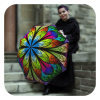 Floral Stained Glass Umbrella - Designer fashion umbrella for women by La Bella Umbrella