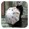 Floral auto open close umbrella for wedding - Flower White Roses Umbrella by La Bella Umbrella