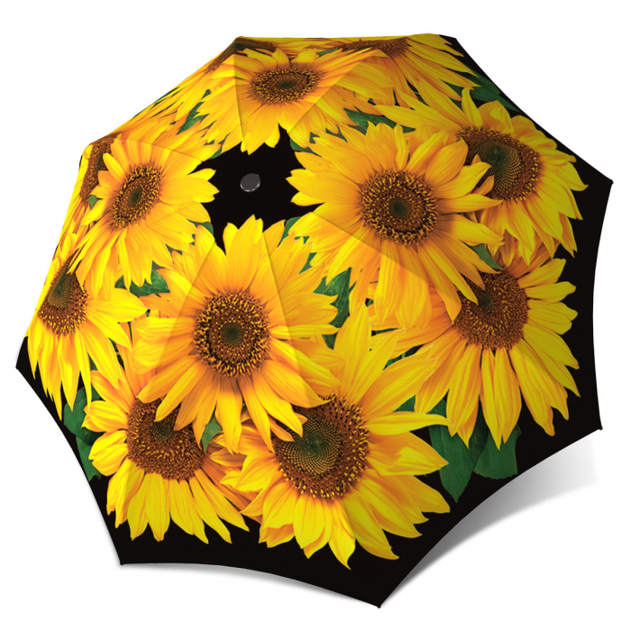 Sunflowers Brand Umbrella for Women - Windproof Compact Auto Open Close