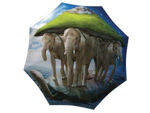 Unique Gift Elephant Umbrella with Turtle - best collapsible umbrella