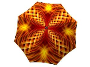 Orange Umbrella Fire Abstract Art Design - best durable umbrellas