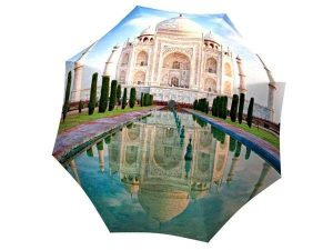 Compact Automatic Rain Umbrella India Taj Mahal Design - best kind of umbrella for rain in Canada Themed Gift
