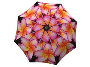 Floral Umbrella with Magnolias Design - Pink Flower Umbrella Windproof Compact for Travel - best made umbrella