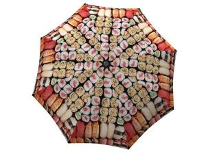 Cute ladies rain umbrella - Small Folding Japanese Sushi Umbrella