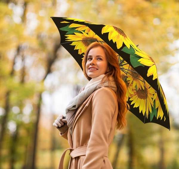 Sunflowers gift umbrella from La Bella Umbrella