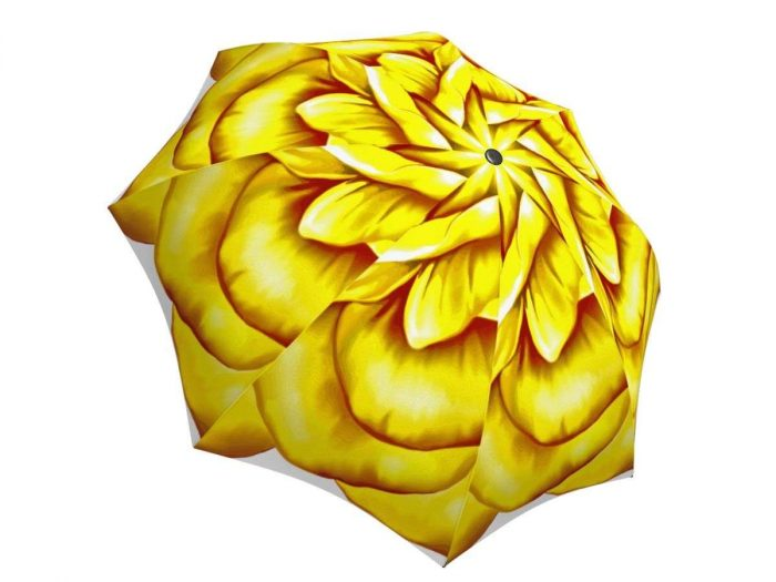 Rain umbrella with gift box - Yellow Flower