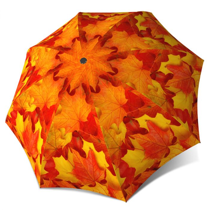 Vintage rain umbrella for women-Canadian autumn leaves umbrella La Bella Umbrella