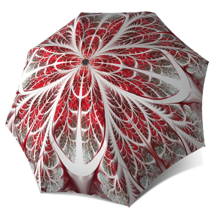 Snow Flakes Designer Portable Brand Umbrella Windproof - Winter Compact Automatic Rain Umbrella
