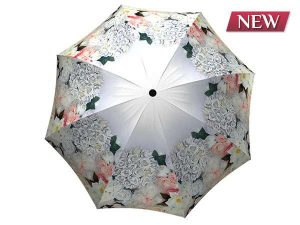 Unique umbrella with gift box - White Roses