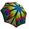 Rain umbrella with gift box - Floral Stained Glass