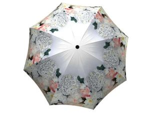 White Roses Design Compact Automatic Umbrella - Floral Umbrella for Women - best umbrella for wind and rain large