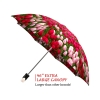Tulips good quality folding rain umbrella with gift box