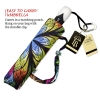 Floral Stained Glass large canopy small folding umbrella