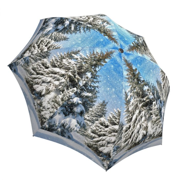 Lightweight Portable Rain Umbrella - Unique Gift Art Umbrella Winter Design