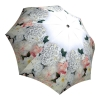 White Roses Design Compact Automatic Umbrella - Floral Umbrella for Women