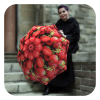 Strawberries Funny fruits rain Umbrella - cool umbrella for rain by La Bella Umbrella