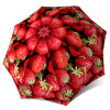 Vintage Red Umbrella Lightweight for Travel - Strawberries Design Compact Automatic Rain Umbrella