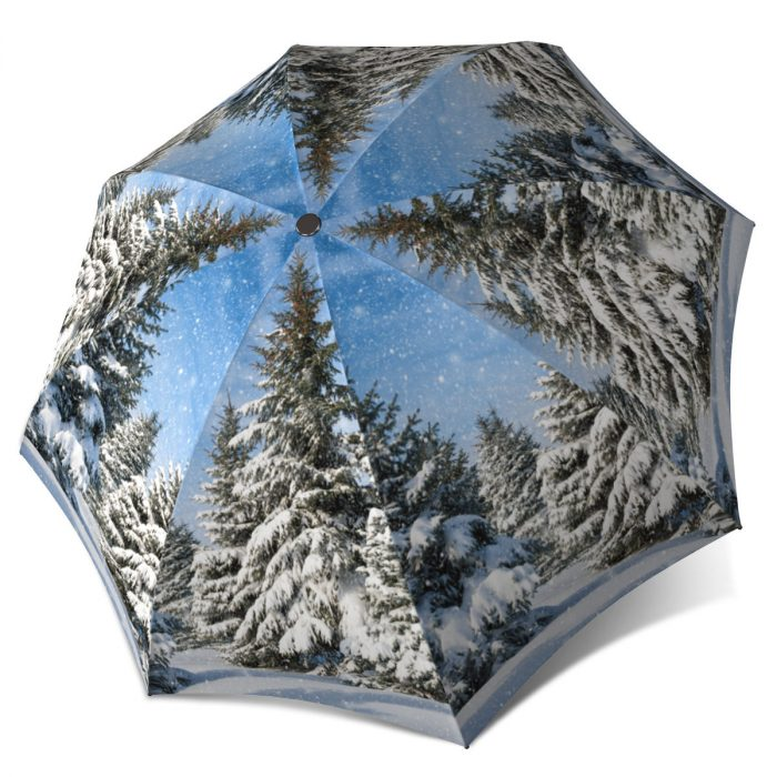 Unique Gift Art Umbrella - Winter Design Lightweight Portable Rain Umbrella