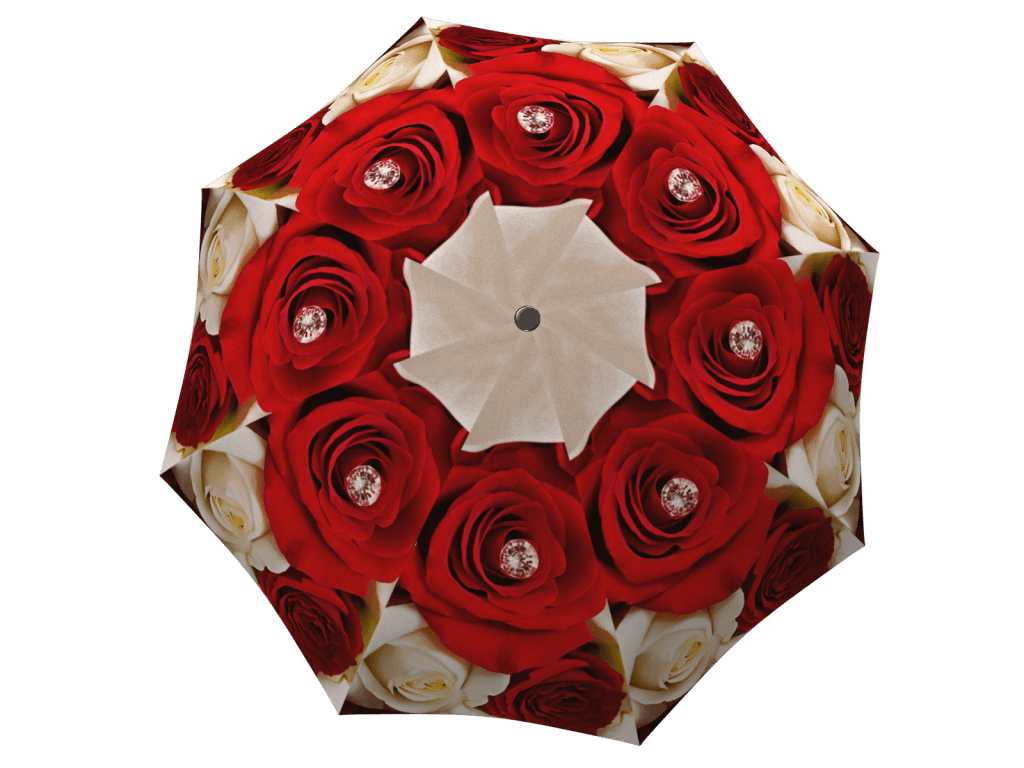 Umbrella with gift box Wedding Roses