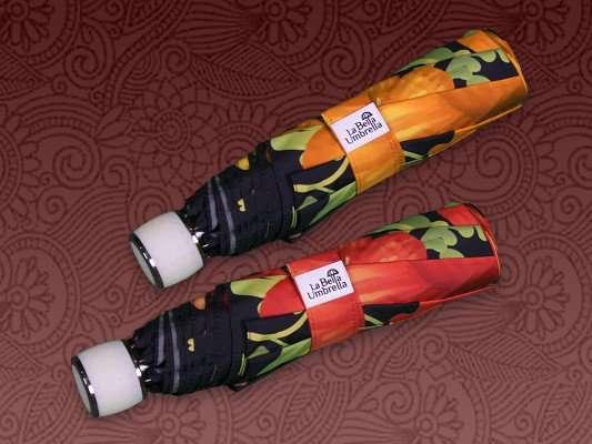 Portable lightweight manual open close beautiful rain umbrellas in gift box La Bella Umbrella