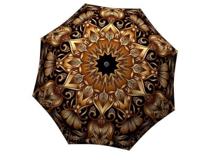 Designer Rain Umbrella with gift box Gold Floral Ornament