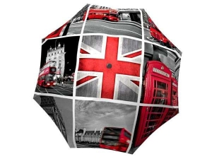 London Umbrella Windproof Compact Travel Themed Gift - best British umbrellas