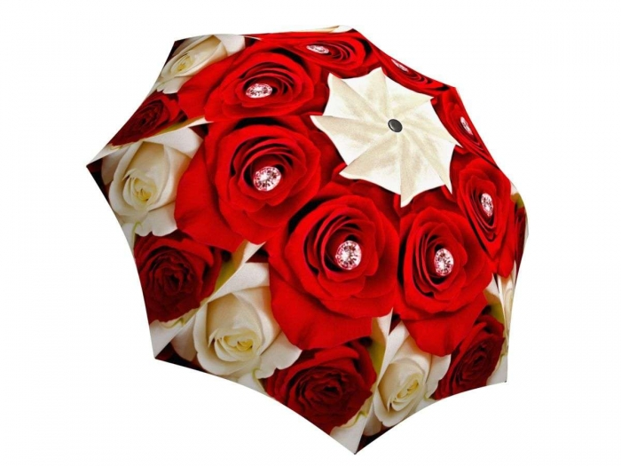 Rain umbrella with gift box - Wedding Roses