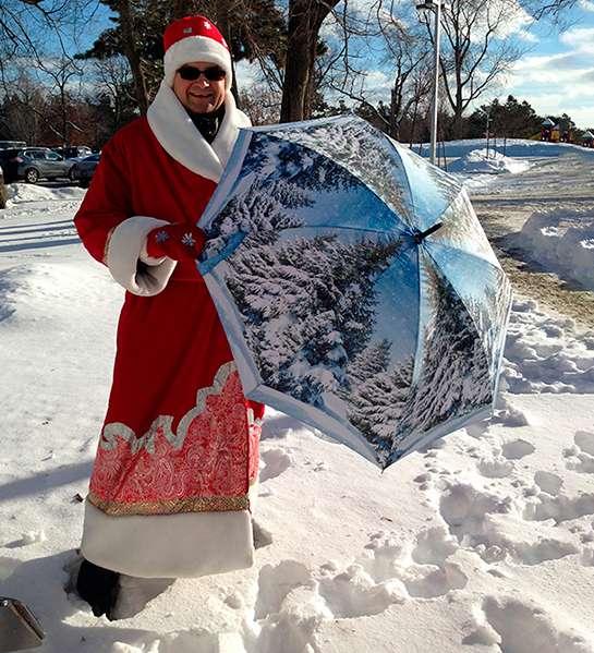 La Bella Umbrella Santa Claus with umbrella