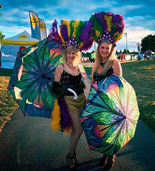 La Bella Umbrella Peacock themed fashion