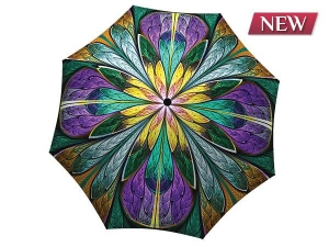 Unique umbrella with gift box - Kaleidoscope Stained Glass