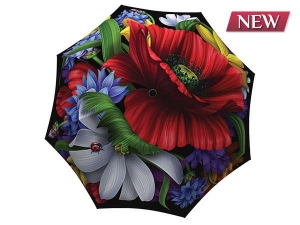 Unique umbrella with gift box - Wild Poppies