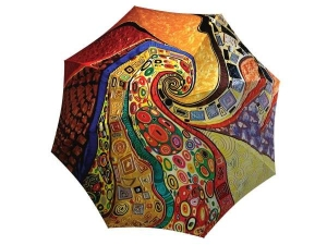 Compact Automatic Rain Umbrella Klimt Design - Designer Umbrella Windproof Auto Open Close - best large umbrella