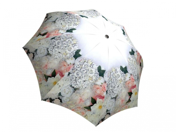 Rain umbrella with gift box - White Roses