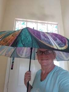 Large durable stick umbrella - Kaleidoscope design