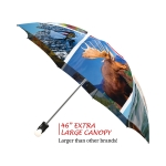Canadian Collage good quality folding rain umbrella with gift box