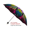 Dragonfly Stained Glass good quality folding rain umbrella with gift box